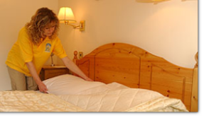 Making your bed is not a chorse for our Hampton Domestic Cleaners